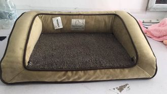 China Shredded Bolster Orthopedic Pet Beds For Large Dogs Soft Surface Easy To Wash supplier