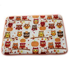 China Lovely Owl Printed Memory Foam Bath Mat 20 X 30cm Size Eco - Friendly Stocked Anti Slip factory