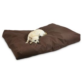 Durable Waterproof Chew Resistant Dog Bed Large Outdoor 600D Oxford Fabric Tan Color