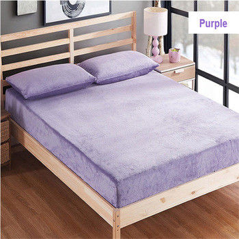 Safe Rest Memory Foam Mattress Protector 100 Cotton Flannel Material Full Size Purple Color