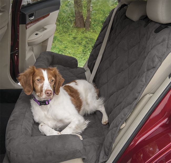 Large Waterproof Memory Foam Dog Bed For Car Seat Protector Grey Color With 2 Sizes